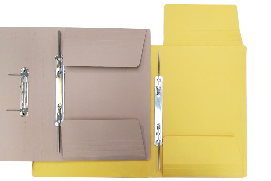 Spring Clip Folders with vertical flaps available in different colours from ESL