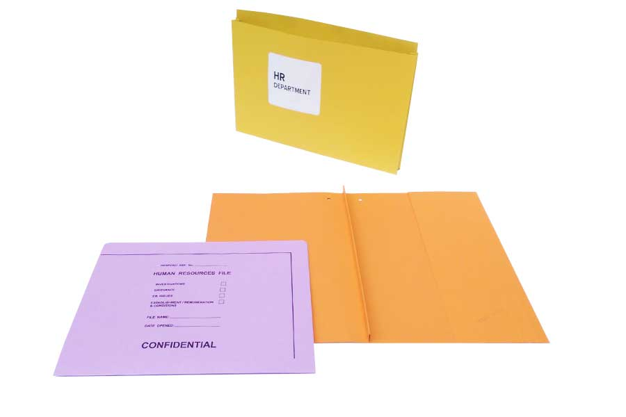 HR Document Wallets available with cutout options available from ESL