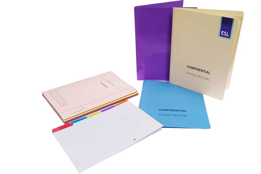 Opticians Records Folders