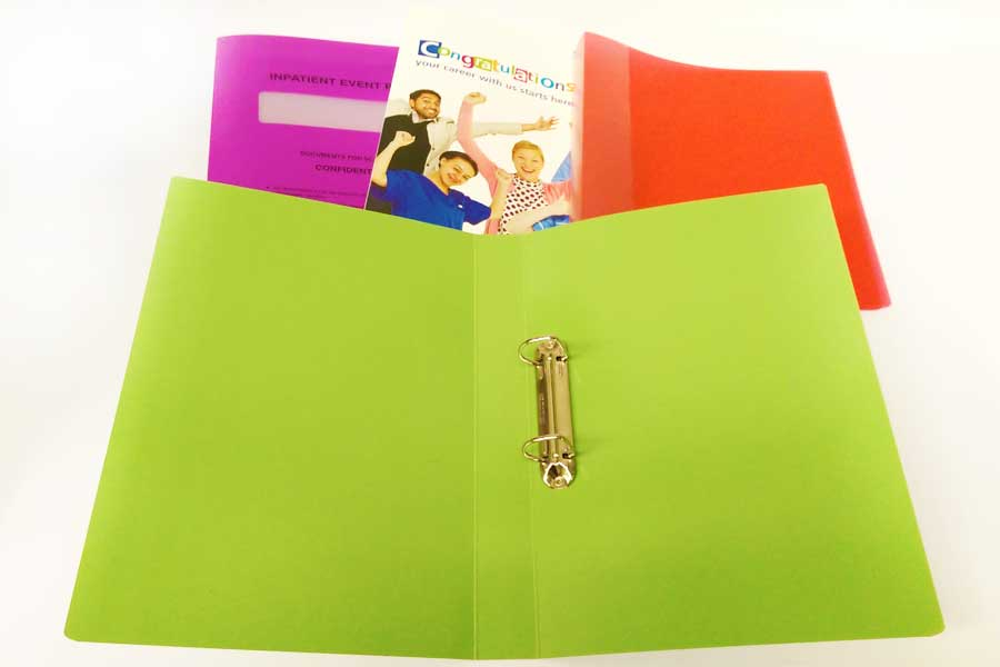 Reusable Binders with Bespoke print from ESL