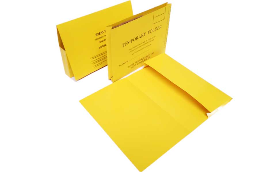 Temporary Document Wallets available with Bespoke Printing and Lamination.