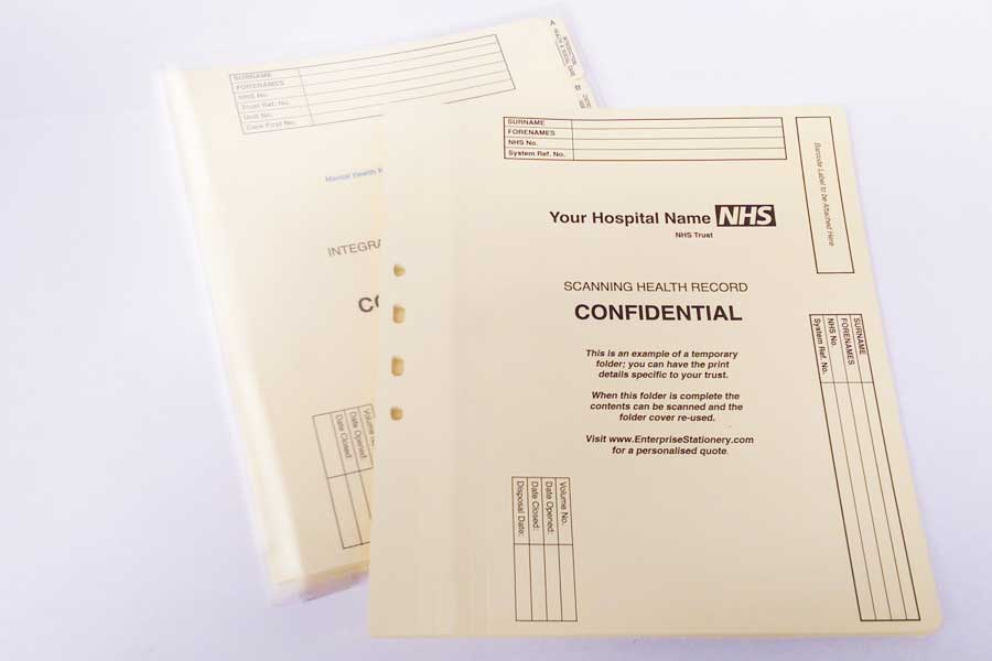 Polypropylene folders with bespoke inserts available from ESL.