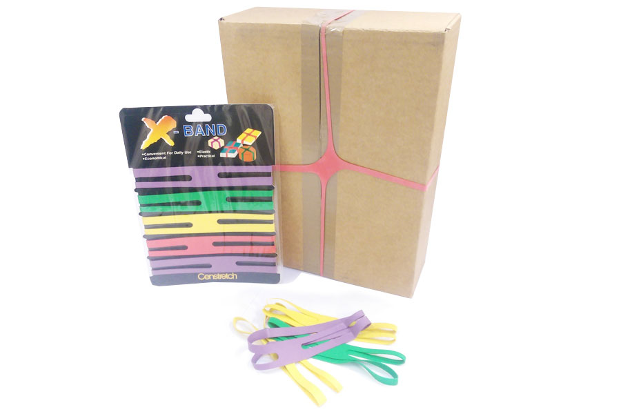 Elasticated bands to secure boxes and bulky items.