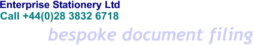 Enterprise Stationery Ltd - Bespoke Document Filing